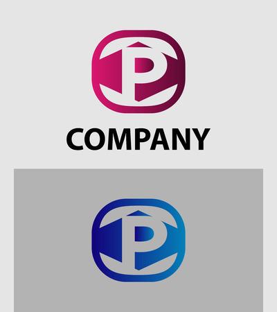 vector symbol: Letter P logo icon vector symbol