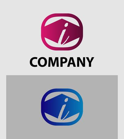 sch: I Letter Logo Icon Design Element template