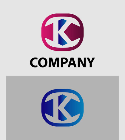 sch: Letter K Logo Icon Design Element template