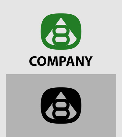 logotype: 819 Number 8 logo. Vector logotype design. Illustration