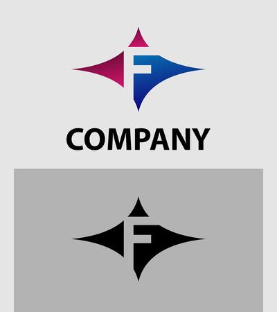 Alphabetical Logo Design Concepts. Letter F