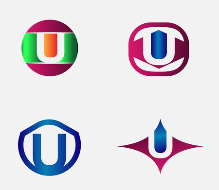 Vector alphabet Letter U Logo template design element