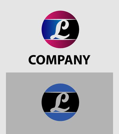 l red: Set of icons letter L logo design template elements