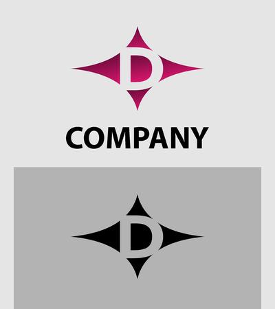 d: Letter D Logo Icon Illustration