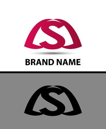 sch: Logo s letter Vector illustration