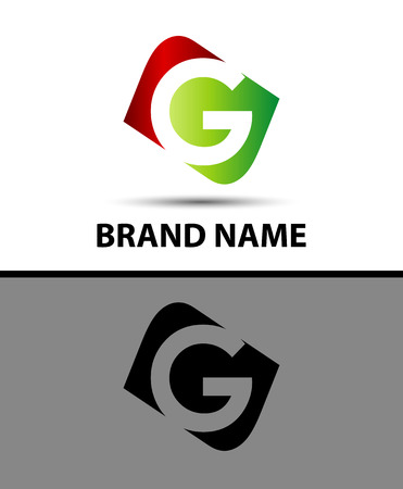 abstract logos: Vector illustration Logo design template letter g