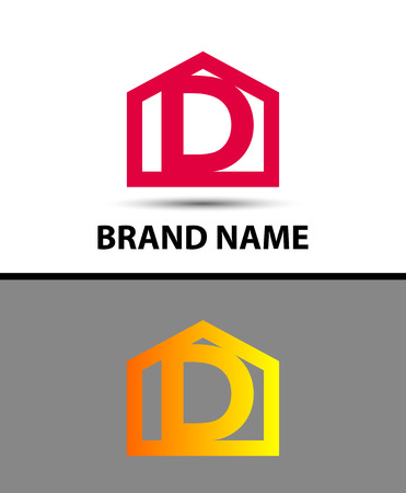 d: Letter d logo with home icon Illustration