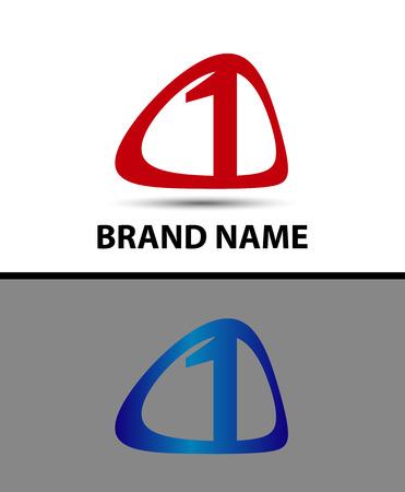 logo vector: Vector sign number one logo Illustration