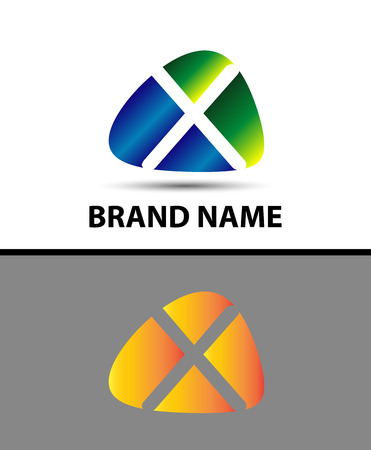 xy: Abstract letter x logo Illustration