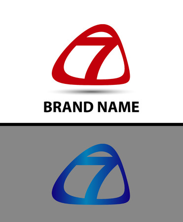 better icon: Vector logo sign number seven