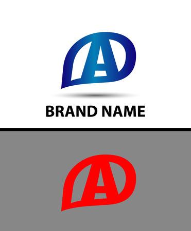 radon: Letter A logo design Illustration