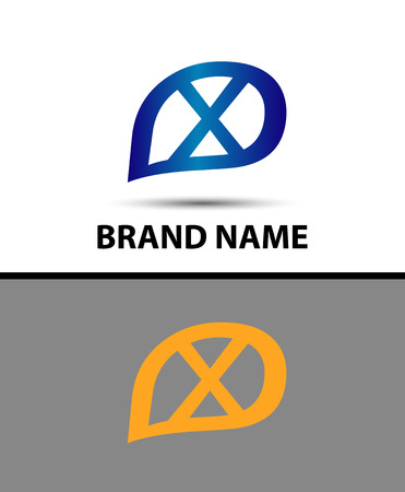 xy: X Letter Logo Design. Vector logo with letter e creative concept Illustration