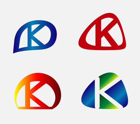 unusual: Unusual Letters K Set Illustration