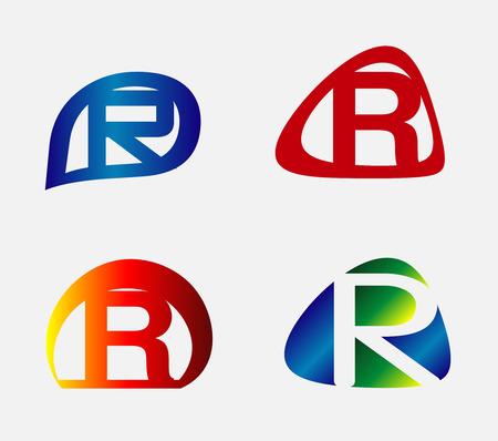 unusual: Unusual Letters R Set Illustration