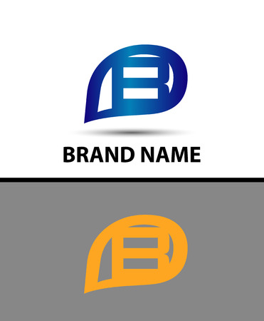 radon: Letter B logo design Illustration