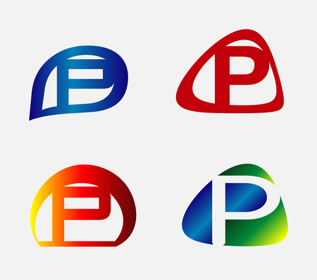 p illustration: Unusual Letters P Set Illustration