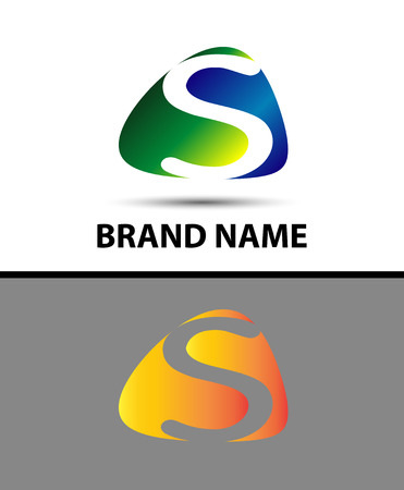 sch: Abstract letter s logo