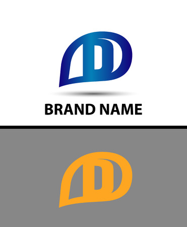 radon: Letter D logo design Illustration