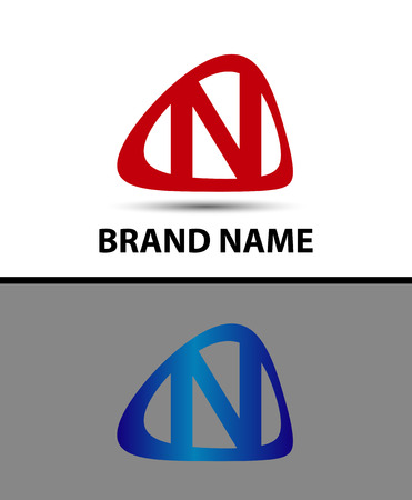 logo marketing: Letter n logo design template elements icon - vector sign Illustration