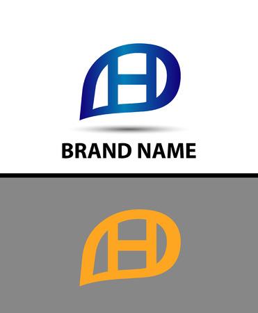 radon: Letter H logo design