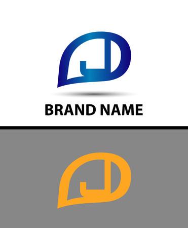 radon: Letter J logo design