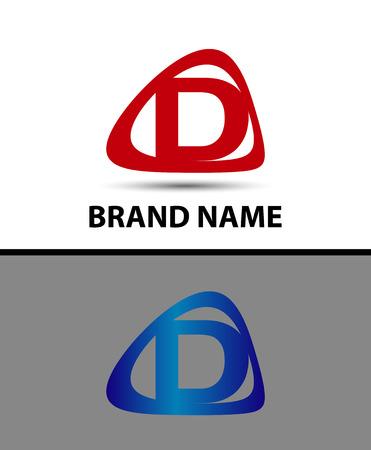 abstract letters: Letter d logo. Alphabet vector design logotype