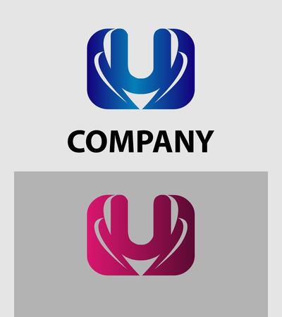 set symbols: Letter U logo