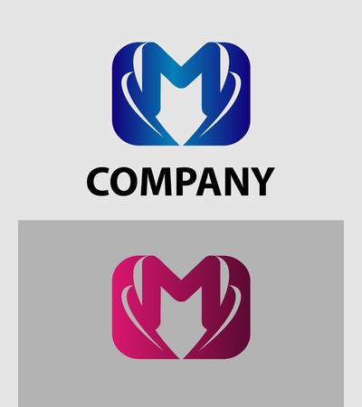 set symbols: Letter M logo