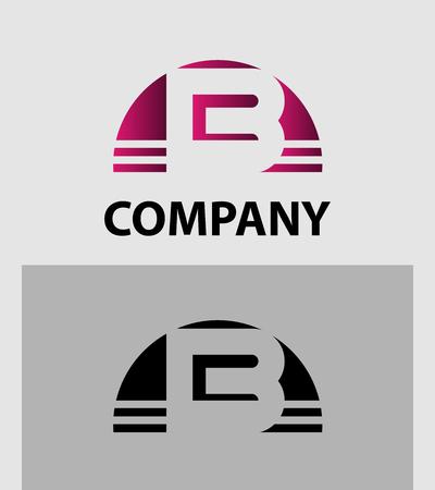 font design: Alphabet Letter B symbol Illustration