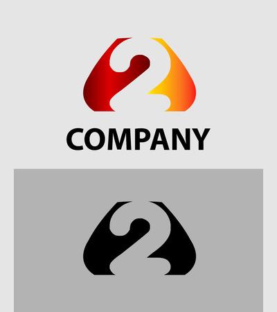 business partner: Number 2 logo. Vector logotype design