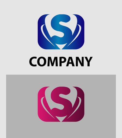 sch: Vector illustration of abstract icons based on the letter S logo