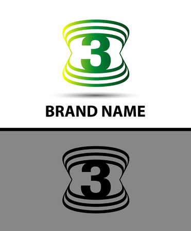 Number Three Logo.Logo 3 Vector Template Royalty Free Cliparts ...