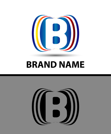 business letter: Letter B Abstract vector template creative logo icon