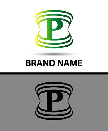 logo: Vector P logo icons Çizim