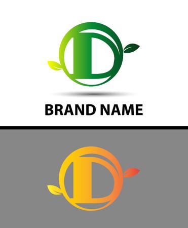 Leaf icon Letter D