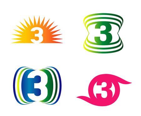 Number three 3 elements logo design template symbol royalty free number three 3 elements logo design template symbol stock vector 45111191 maxwellsz