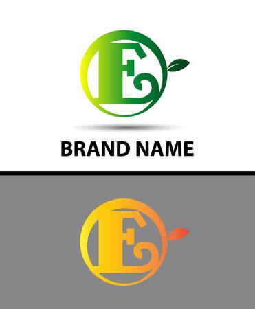 typesetter: Leaf icon Letter E Logo