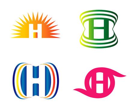 h: H Letters logo Set