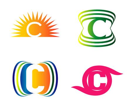 letter c: C logo Letters Set Illustration