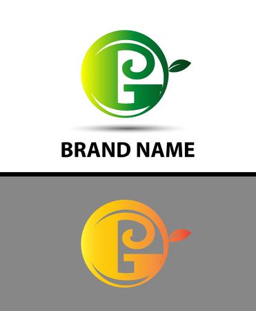 typesetter: Leaf icon Letter G Logo