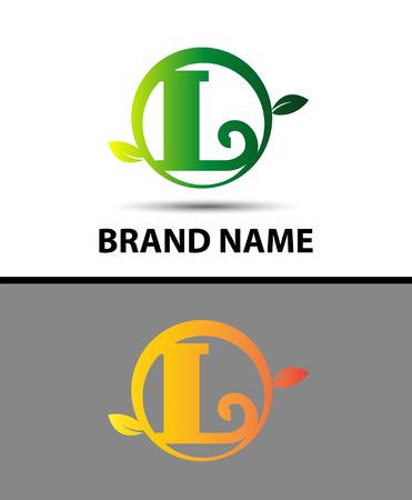 typesetter: Leaf icon Letter L Logo