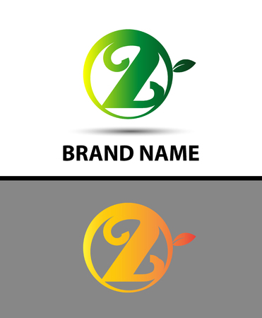 two: Eco number two sign Vector logo