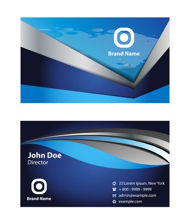 setter: Blue business card template