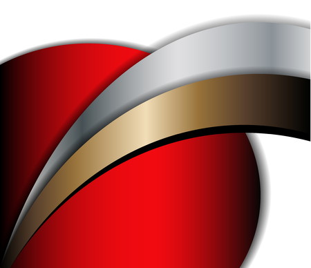 overlap: Red background on black background curve line modern overlap dimension and texture pattern shadow space