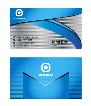 blue card: Abstract business card