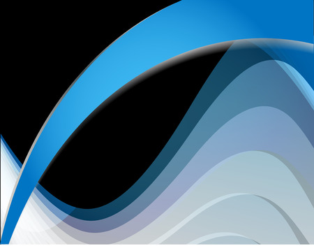 spotted line: Abstract blue wave on black background vector