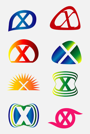 xy: Abstract spiral letter X logo