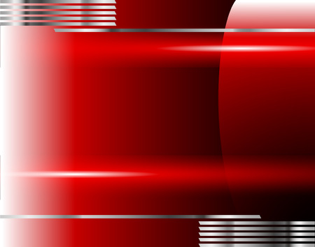 overlap: Vector red background space for text and graphic layers overlap modern message design artwork