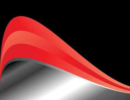 earth moving: Red background curve graphic modern line for text messages and web design Illustration