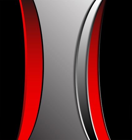 curve line: Red curve line on white background shadow space and dimension modern overlap pattern texture for text messages and website design